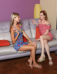 SWEET LOVESEAT with Gina Gerson, Lilien Ford - ALS Scan
