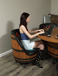 POLKA DOT SOCKS with Audrey Mercy - ALS Scan