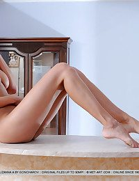 Suzanna's magnificent, large knockers, slim waist, increased by amazing smarting legs never fails to make us drool.